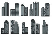 Silhouettes of skyscrapers — Vector de stock