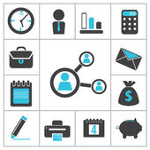 Buisness icons — Stock Vector