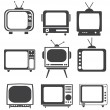tv set — Stockvectorbeeld