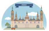 Zaragoza — Stock Vector