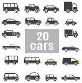 Cars. Set icons — Vettoriale Stock