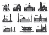 Silhouettes of cities — Stock Vector
