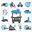 Logistic icons — Stock Vector #36459947