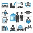 High education icons — Stock Vector