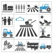Agriculture icons — Stock Vector #36459983