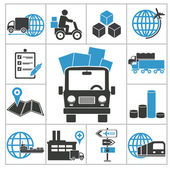 Logistic icons — Stock Vector