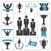 Sports award icons — Stock Vector