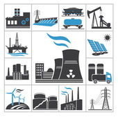 Power icons — Stock Vector