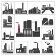 Factory and Industry — Stock Vector