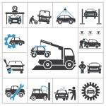 auto reparation ikoner — Stockvektor  #37245553