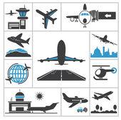 Letiště ikona — Stock vektor