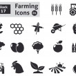 Farming icons — Stock Vector #38183735