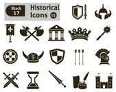 Histoical icons — Stock Vector