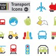 Transport icons — Stock Vector #38419177
