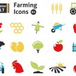 Stock Vector: Farming icons