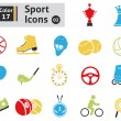 Sport icons — Stock Vector #38419225