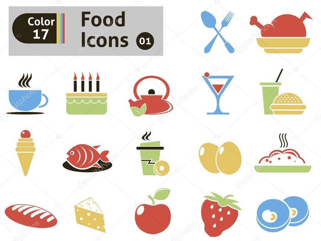 食物图标 — 图库矢量图像08