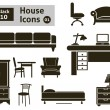 House icons — Stock Vector #38657141