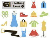 Clothing icons — Stock Vector