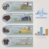 City. Industry — Stock Vector