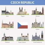 Czech republic. Symbols of cities — Stock Vector #41777463