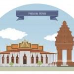 Phnom Penh, Cambodia — Stock Vector #44150259