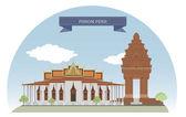 Phnom Penh, Cambodia — Stock Vector