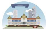 曼谷泰国 — 图库矢量图片