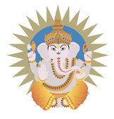 Hindu Ganesh — Stock Vector