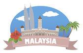 Malaysia. viaggi e turismo — Vettoriale Stock