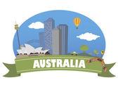 Australia. Tourism and travel — Stock Vector