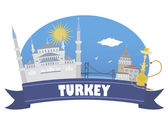 Turchia. viaggi e turismo — Vettoriale Stock
