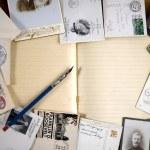 Vintage paper postcards, letters — Stock Photo #1331706