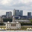 City of London, England from Greenwich Observatory,  UK - Stock Photo