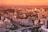 Beijing sundown China — Stock Photo