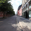 Old street in Oslo, Norway - Stock Photo