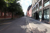 Old street in Oslo, Norway — Stock Photo