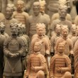 Famous terracotta warriors in XiAn, Qin Shi Huang - Stock Photo