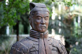 Famous terracotta warriors in XiAn, Qin Shi Huang — Stock Photo