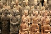 著名的兵马俑在西安、 秦始皇 — 图库照片