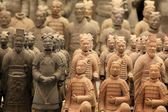 Famous terracotta warriors in XiAn, Qin Shi Huang — Foto de Stock