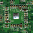 Green computer board — Stock Photo