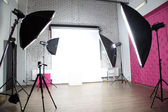 Interior of a modern photo studio — 图库照片