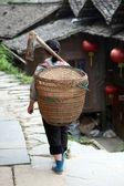 Miao countrywoman from Longji rice terraces, Guangxi province, C — Stock Photo