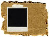 Eski fotoğraf çerçevesi vintage kağıt izole — Stok fotoğraf