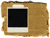 Moldura de foto antiga isolada papel vintage — Foto Stock