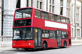 Traditional London Double decker red bus — Stock Photo
