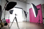 Interior of a modern photo studio — Stock fotografie