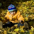 Boy relaxing in autumn — Stock Photo #15405897
