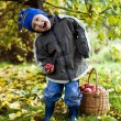 Boy with apples — Stock Photo